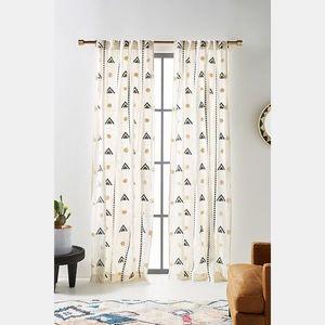 Anthropologie Embroidered Faiza Curtain 1 Panel